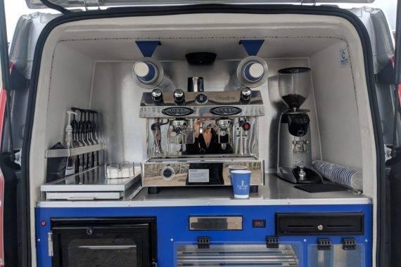 Barista area of Coffee Van